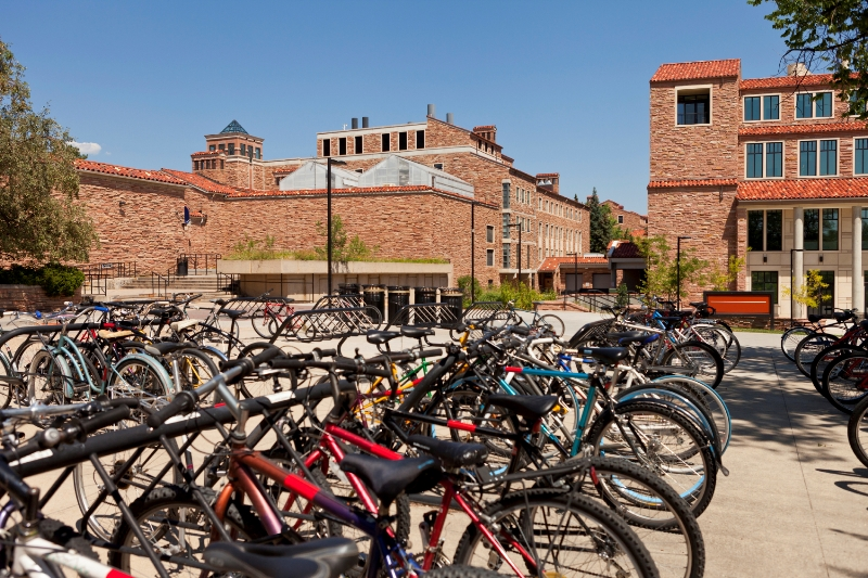 Campus with bikes